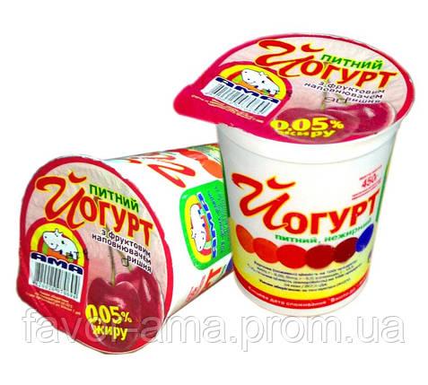 Йогурт питьевой нежирный АМА вишня 0,05%, фото 2