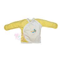 """Детская распашонка """"Бусинка-Свит Бейби"""" для новорожденных (желтый)"""