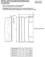Фреза для сращивания древесины по ширине ( микрошип) 115х32х103