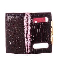 Обложка для паспорта женская кожаная Cartier бордовая