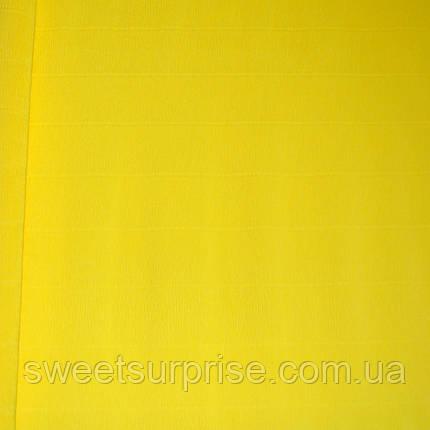 Итальянская гофрированная бумага (575) желтый, фото 2