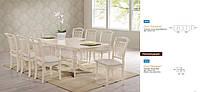 Стол обеденный раздвижной Палермо 1600(+440)*1000*750 (айвори лайт). Столы обеденные раздвижные недорого