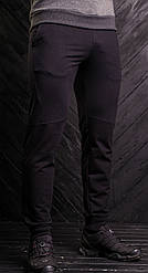 Мужские спортивные брюки черного цвета