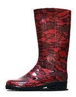 Красивые красные резиновые сапоги для женщин 1160