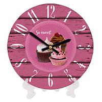 Стильные декоративные часы с принтом Сладости 18 см