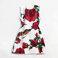Платье для девочки с цветами