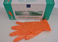 Перчатки нитриловые неопудренные ABENA, оранжевый