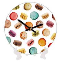 Часы декоративные с принтом Макаруны 18 см