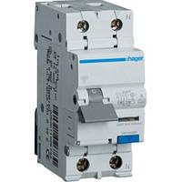 Дифференциальный автоматический выключатель 10A 1+N 4.5kA C 30mA AC 2м AD860J Hager