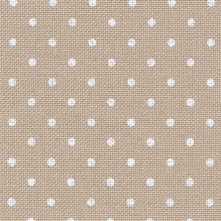 Ткань для вышивки Zweigart 3984/7309 Petit Point Murano Lugana 32 ct - хаки в белый горох