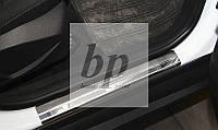 Защитные хром накладки на пороги Ford Focus III (Форд фокус 3 2011+)