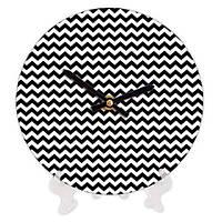 Часы настольные с принтом Зигзаг 18 см