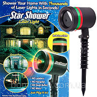 Лазерный проектор Star Shower Laser Light, мини лазер Стар Шовер