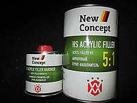 Автомобильный грунт NEW CONCEPT HS ACRYLIC FILLER 5:1 акриловый грунт-наполнитель