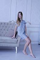 Женская рубашка с коротким рукавом. Одежда для сна хорошего качества оптом и в розницу.