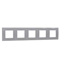 Рамка SCHNEIDER Unica Basic MGU2.010.25 c декоративным элементом, 5 места бежевый