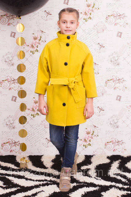 Кашемировое пальто для девочки Леди