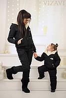 Стильный детский теплый костюм,цвет черный