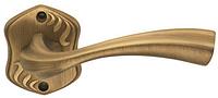 Дверная ручка на круглой розетке APPIA 834-OGH матовая бронза DND