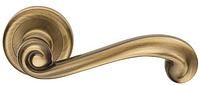 Дверная ручка на круглой розетке LADY 568/12-OGC блестящая бронза DND