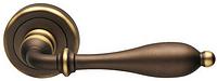 Дверная ручка на круглой розетке LIRICA 806/12-BSS темная бронза DND