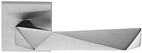 Дверная ручка на квадратной розетке LUXURY 02 LU14-PCS матовый хром DND