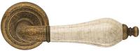Дверная ручка на круглой розетке MONICA 467/12-AF/P8 античная отделка/бежевый фарфор DND