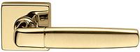 Дверная ручка на квадратной розетке NOVA-B 02 681/14-OLS/M полированная-матовая латунь DND