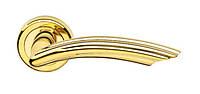 Дверная ручка на круглой розетке BEVERLY 141/12 - OLV полированная латунь DND
