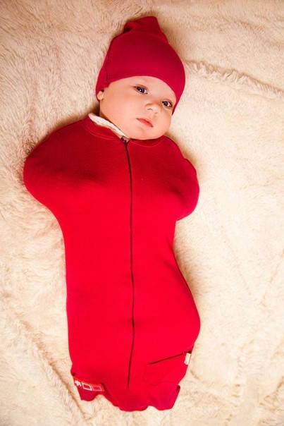 Евро-пеленка на молнии Кокон изготовленна для ребенка возрастом 4 месяца