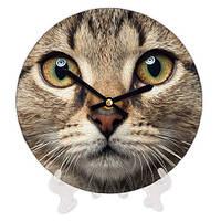 Часы декоративные для дома Кошка 18 см