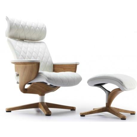 Кресло-реклайнер Nuvem Lux кожаное