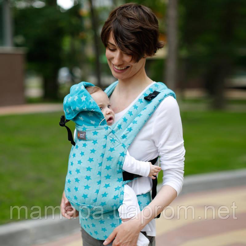 Эрго рюкзак Love & Carry DLIGHT из шарфовой ткани — ЗВЕЗДЫ бесплатная доставка новой почтой
