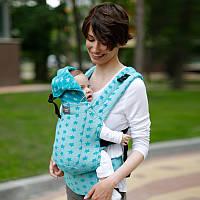 Эрго рюкзак Love & Carry DLIGHT из шарфовой ткани — ЗВЕЗДЫ бесплатная доставка новой почтой, фото 1