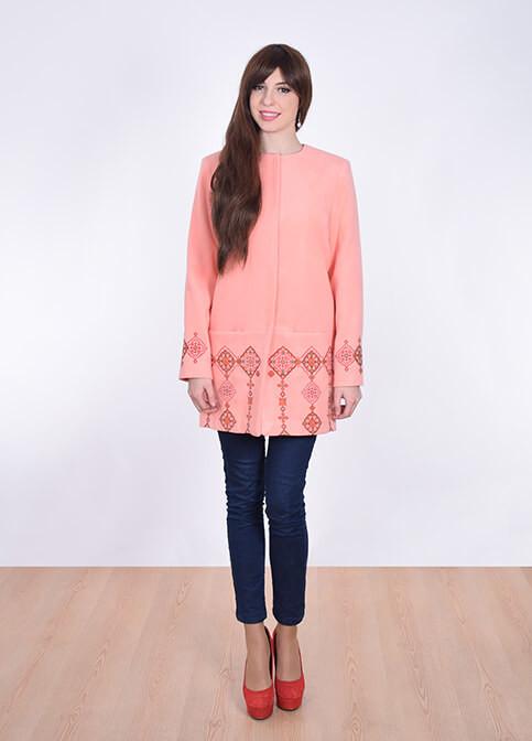 Кашемировое пальто нежного розового цвета