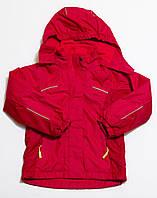 Детская демисезонная куртка на флисе для девочки или мальчика красная р.116
