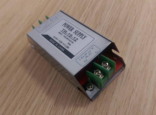Блок питания перфорированный 12V 1,25А 15W для led ленты
