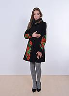 Расшитое молодежное кашемировое пальто