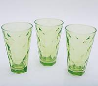 """Набор 3 стакана """"Эмилия""""-20 зеленые 375мл"""