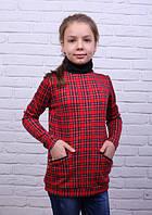 Мягкая кофта для девочки из трикотажа Кристина-2 с воротником