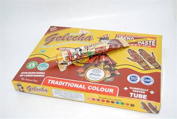 Хна для тату коричневая Golecha в тюбике 25 мл