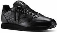 Мужские кроссовки Reebok New Black leather  (реплика)