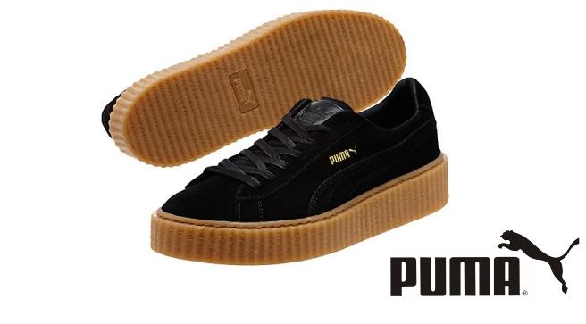 """Мужские кроссовки Rihanna x Puma Suede Creeper men's """"Black/Oatmeal"""", фото 1"""