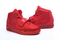 Кроссовки Nike Air Yeezy II женские красного цвета, фото 1