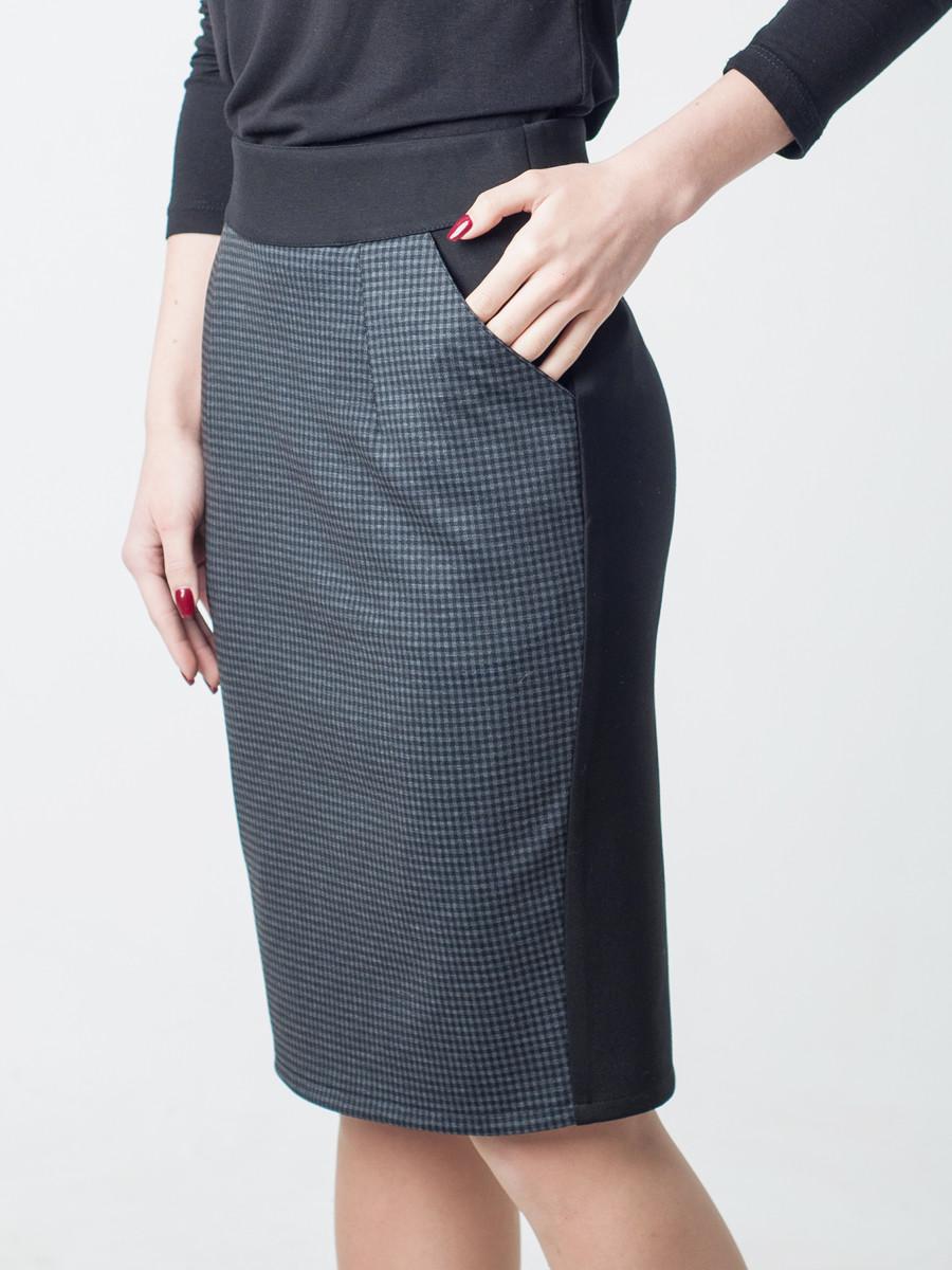 cd0f8338ac6 Женская стильная юбка-карандаш с карманами - MIZZ в Хмельницком