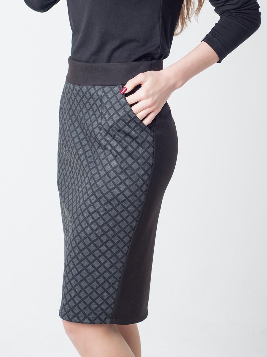 4d30be6b0bd Женская юбка-карандаш по колено с карманами  по лучшей цене в ...