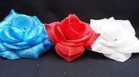 Головки роз (упаковка-180 шт, ткань, разные цвета, d-10 см)
