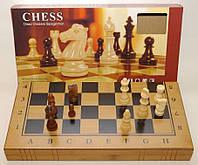 Шахматы, шашки, нарды, 3 в 1 бамбук, маленькие фигуры, артикул I5-49
