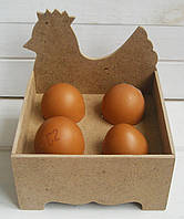 Подставка для яиц №2 ДВП заготовка для декупажа 12*12 см, 1 шт