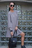 Платье женское, пепельно-бежевое, демисезон P-VERONIQ1-1